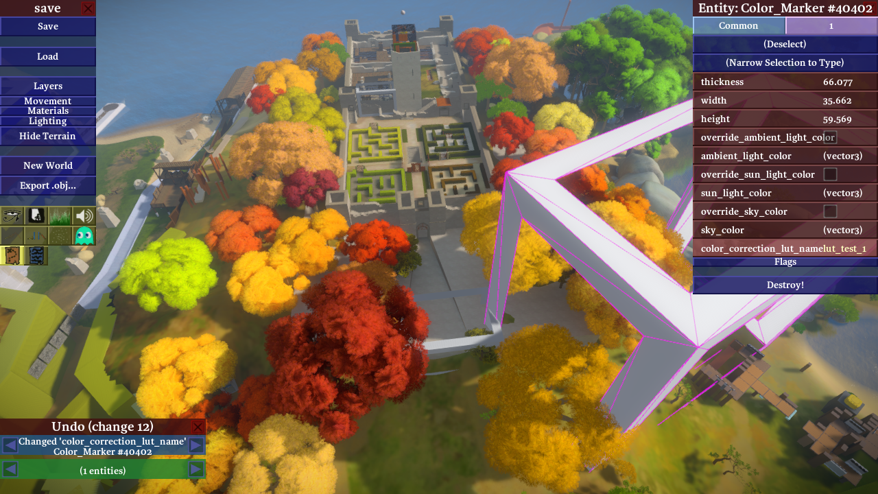 Fun with in-engine color grading – The Witness